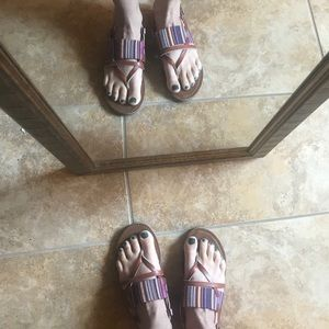 Target Mossimo Boho Strappy Cute Sandals 6 6.5